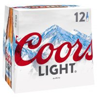 Coors Light 12 Pack Bottle