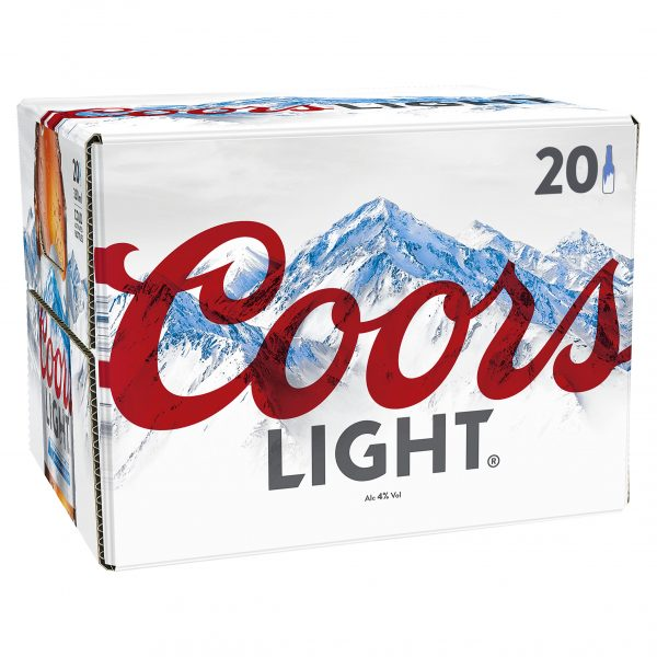 Coors Light 20 Pack Bottle