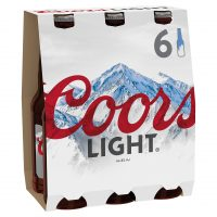 Coors Light 6 Pack bottle