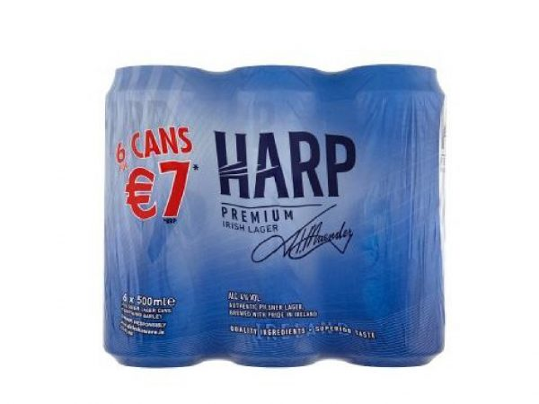 Harp-6 Pack 500ml Can